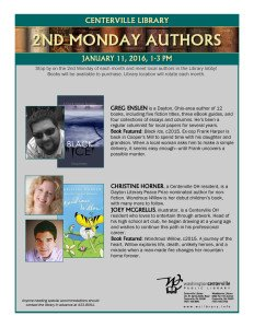 2nd Monday Authors Series